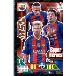 Messi - Suarez - Neymar Super Heroes Adrenalyn XL 2016-17