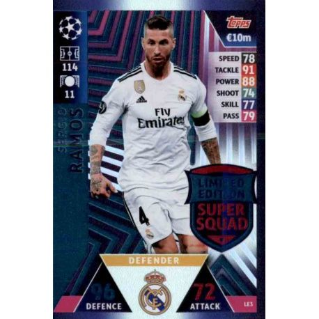 3442b7efa Match Attax Champions 2018-19 Sergio Ramos Limited Edition LE3. Sergio  Ramos Limited Edition LE3