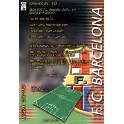 Indice Barcelona 55 Megafichas 2002-03