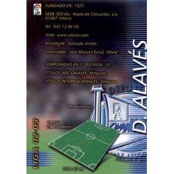 Indice Alavés 1 Megafichas 2002-03