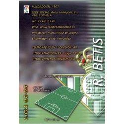 Indice Betis 73 Megafichas 2002-03