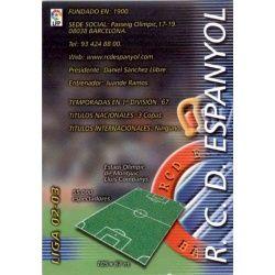 Indice Espanyol 127 Megafichas 2002-03