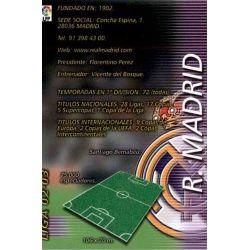 Indice Real Madrid 145 Megafichas 2002-03