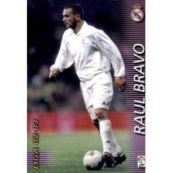 Raul Bravo Real Madrid 152 Megafichas 2002-03