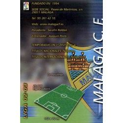 Indice Málaga 163 Megafichas 2002-03