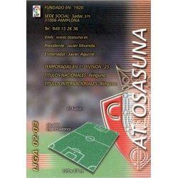 Indice Osasuna 199 Megafichas 2002-03