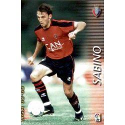 Sabino Osasuna 216 Megafichas 2002-03