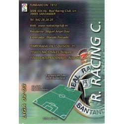 Indice Racing 217 Megafichas 2002-03