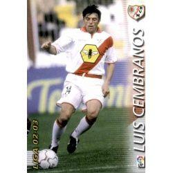Luis Cembranos Rayo Vallecano 246 Megafichas 2002-03