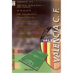 Indice Valencia 307 Megafichas 2002-03