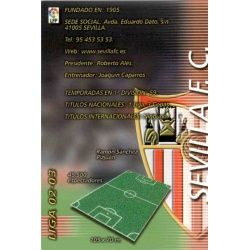 Indice Sevilla 271 Megafichas 2002-03