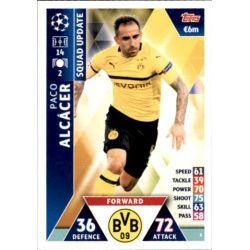 Paco Alcácer Borussia Dortmund UP5 Match Attax Champions 2018-19