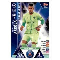 Alphonse Aréola Paris Saint‐Germain UP13 Match Attax Champions 2018-19