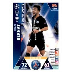 Juan Bernat Paris Saint‐Germain UP14 Match Attax Champions 2018-19
