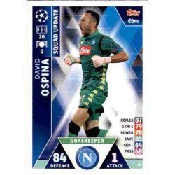 David Ospina Nápoles UP16 Match Attax Champions 2018-19