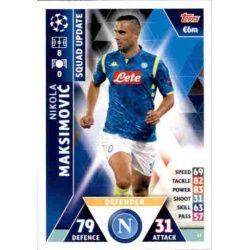 Nikola Maksimović Nápoles UP17 Match Attax Champions 2018-19