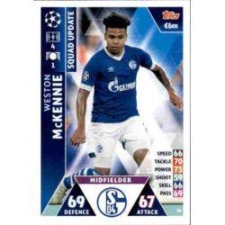 Weston Mckennie Schalke 04 UP20 Match Attax Champions 2018-19