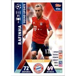 Rafinha Bayern Munich UP22 Match Attax Champions 2018-19