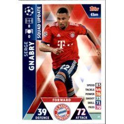 Serge Gnabry Bayern Munich UP23 Match Attax Champions 2018-19