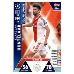 Klaas Jan Huntelaar Ajax UP27 Match Attax Champions 2018-19
