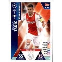 Dušan Tadić Ajax UP28 Match Attax Champions 2018-19