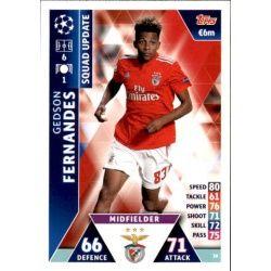 Gedson Fernandes Benfica UP30 Match Attax Champions 2018-19