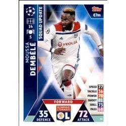Moussa Dembélé Olympique Lyon UP36 Match Attax Champions 2018-19