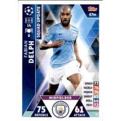 Fabian Delph Manchester City UP38 Match Attax Champions 2018-19