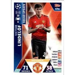 Victor Lindelöf Manchester United UP50 Match Attax Champions 2018-19