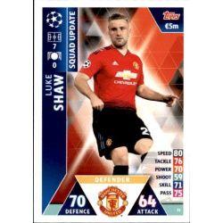Luke Shaw Manchester United UP51 Match Attax Champions 2018-19