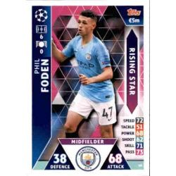 Phil Foden Rising Star UP60 Match Attax Champions 2018-19
