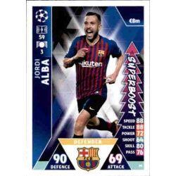 Jordi Alba Super Boost UP66 Match Attax Champions 2018-19