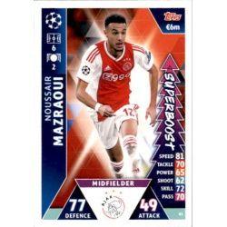 Noussair Mazraoui Super Boost UP81 Match Attax Champions 2018-19
