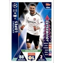 Anthony Lopes Super Boost UP82 Match Attax Champions 2018-19