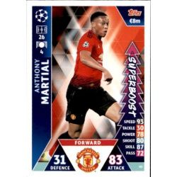 Anthony Martial Super Boost UP93 Match Attax Champions 2018-19