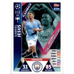 Gabriel Jesus Flashback UP101 Match Attax Champions 2018-19