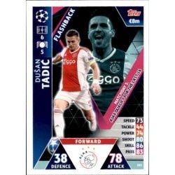 Dušan Tadić Flashback UP103 Match Attax Champions 2018-19
