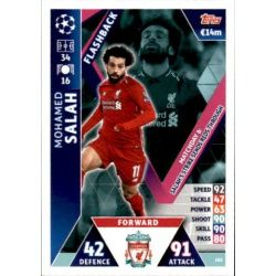 Mohamed Salah Flashback UP105 Match Attax Champions 2018-19