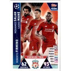 Salah - Mané - Firmino UCL Trio UP112 Match Attax Champions 2018-19