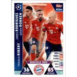 James - Ribéry - Robben UCL Trio UP118 Match Attax Champions 2018-19