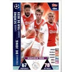 Van de Beek - de Jong - Schöne UCL Trio UP119 Match Attax Champions 2018-19