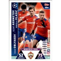 Akhmetov - Oblyakov - Vlašić UCL Trio UP126 Match Attax Champions 2018-19