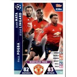 Lingard - Pogba - Mata UCL Trio UP128 Match Attax Champions 2018-19
