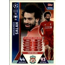 Salah UCL Group Stage MVP UP135 Match Attax Champions 2018-19