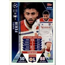 Fekir UCL Group Stage MVP UP141 Match Attax Champions 2018-19