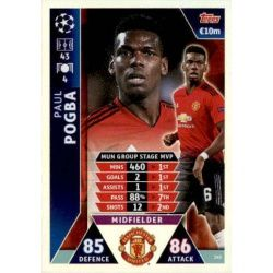 Pogba UCL Group Stage MVP UP145 Match Attax Champions 2018-19