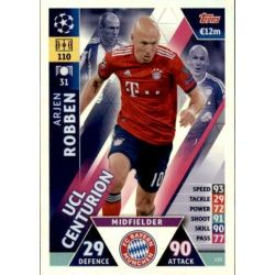 Arjen Robben UCL Centurion UP153 Match Attax Champions 2018-19