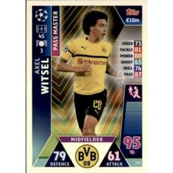 Axel Witsel Pass Master UP159 Match Attax Champions 2018-19