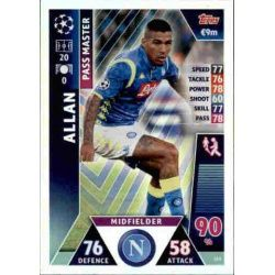 Allan Pass Master UP165 Match Attax Champions 2018-19