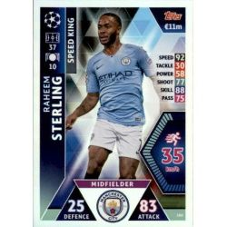 Raheem Sterling Speed King UP166 Match Attax Champions 2018-19